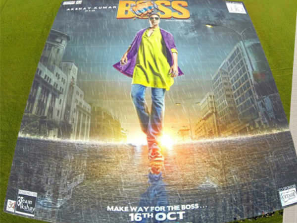 Akshay Unveil Record Breaking Boss Poster Mumbai