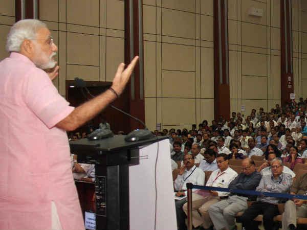 Modi Addresses Chintan Shibir Atvt At Mahatma Mandir