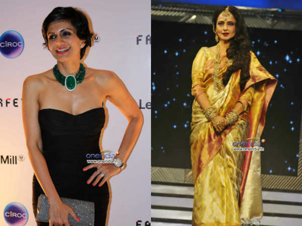 Mandira Bedi Open Sari Store Wants Design Rekha