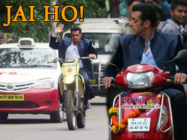 Salman Khan Driving Suzuki Bikes Movie Jai Ho