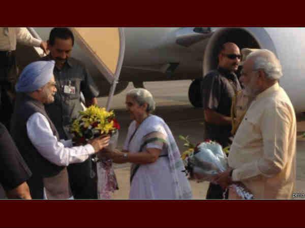 Pm And Narendra Modi At Inauguration Of Sardar Patel National Memorial
