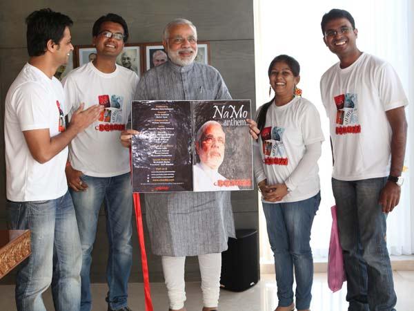 Ckordzz Band Meet Narendra Modi With Namo Anthem