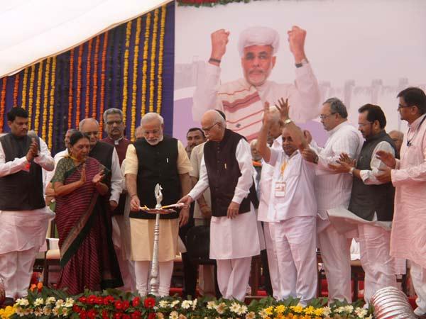Foundation Stone Statue Unity Laid Narendra Modi
