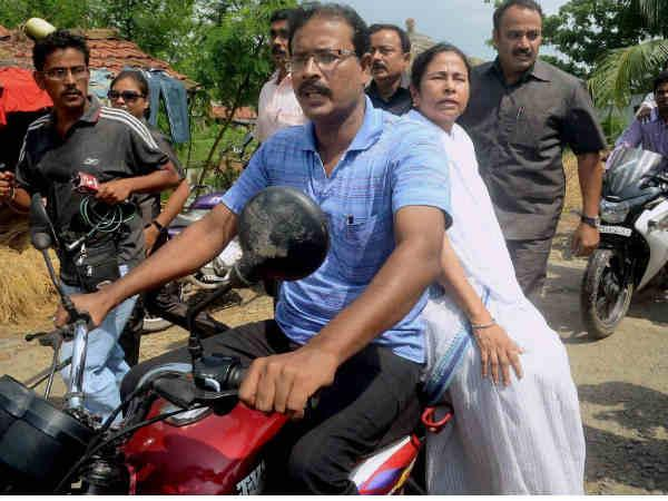 mamata-on-bike