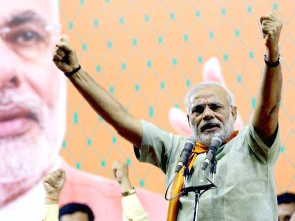 Narendra Modi Addressing Vijay Shankhnad Rally At Bahraich