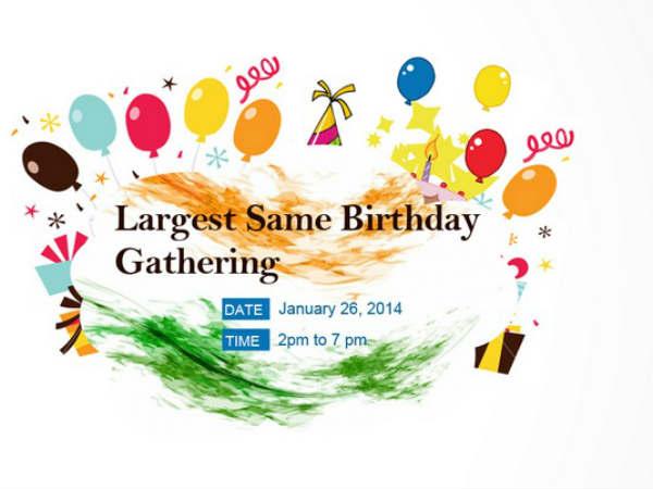 Ahemdabad Celebrate World Largest Birthday
