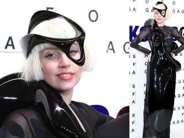 Gaga Continues Wacky Dressing With Flying Dress