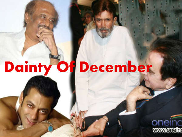 Dilip Kumar Rajinikanth Salman Khan Celebrate Birthday December