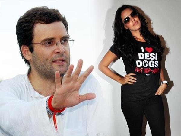 Rahul Gandhi Looks Good When He Is Clean Shaven Neha Dhupia