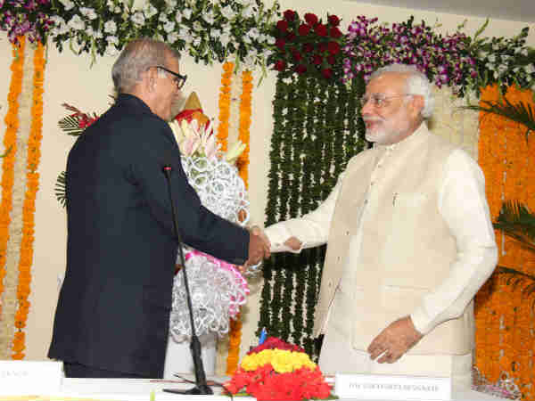 Modi Attends Swearing Ceremony Justice Dp Buch As Gujarat S Lokayukta