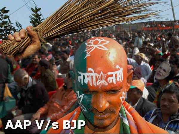 Aam Admi Party To Be Main Rival Of Bjp