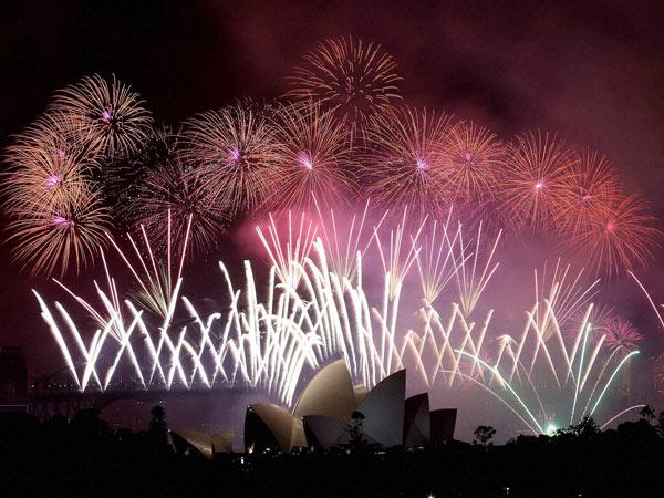 Welcome Celebration New Year Worldwide