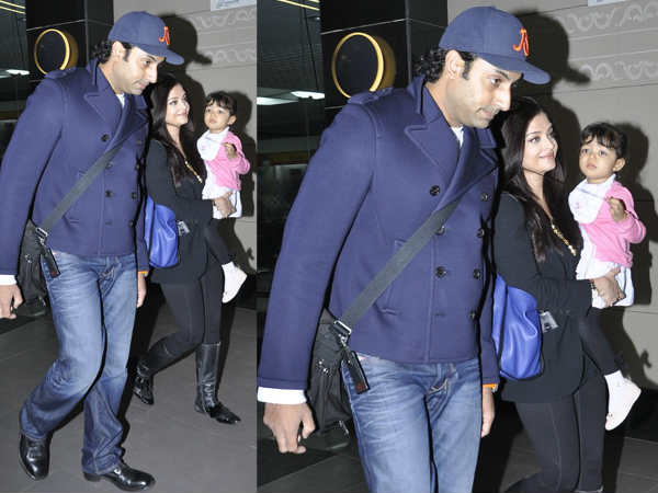 Abhishek Back From Dubai Holiday