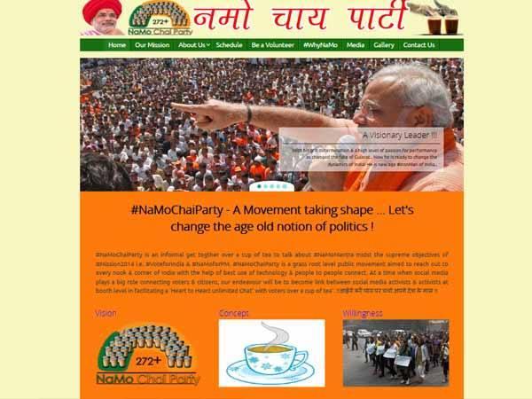 Modi Supporter Starts New Website Namochaiparty Com