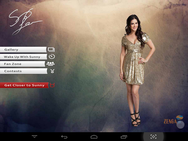 Android application screen shots