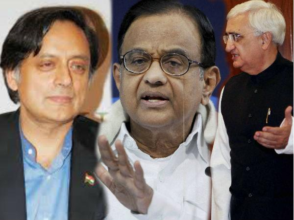 Congress Names Chidambaram Khurshid Shashi Tharoor As Spokesperson