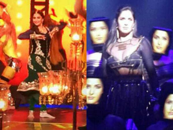 Priyanka Salman Katrina Madhuri Ranveer Rehearsing Filmfare Awards