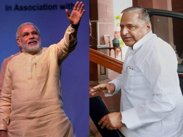 Narendra Modi Vs Mulayam Singh In Uttar Pradesh