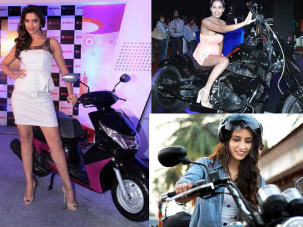 Pictures Indian Film Celebrities Hot Stills On Bikes