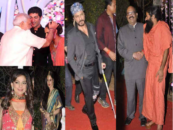 Bollywood Celebs At Ahana Deol S Wedding Reception Sunny Bobby Missing