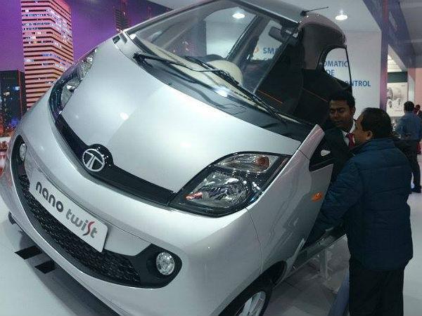 Tata Nano Twist F Tronic Automatic Showcased At Auto Expo