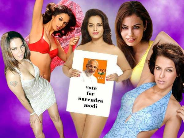 Bjp Red Faced After Model Meghna Patel Poses Vulgar Support Modi