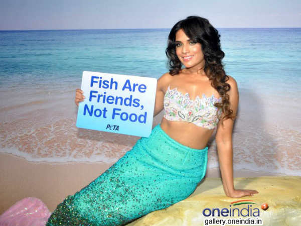Richa Chaddha Poses As Mermaid Peta