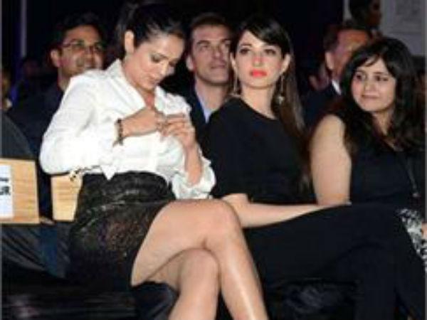 Anjana Sukhani Suffers Wardrobe Malfunction On Stage