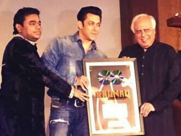 Salman Khan Called A R Rahman Average Kapil Sibbal Excellent