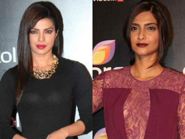 Bollywood Celebs At Colors Party Sonam Priyanka Transparet Dress