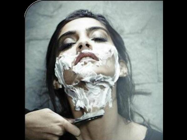 Omg Another Bewakoofian Sonam Kapoor Shaving