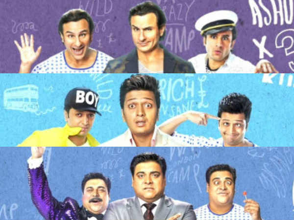 Saif Riteish Ram Kapoor Triple Roles Humshakals Poster Release