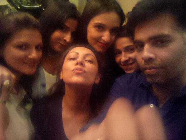 Karan Johar Celebrates Saturday Night With Gauri Khan Gal Pals