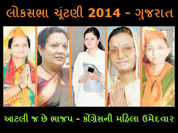 Gujarat Only 5 Women Candidate From Bjp Congress In Elections 2014 Lse