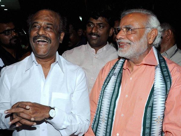 Bjp Pm Candidate Narendra Modi Meets Tamil Superstar Rajinikanth