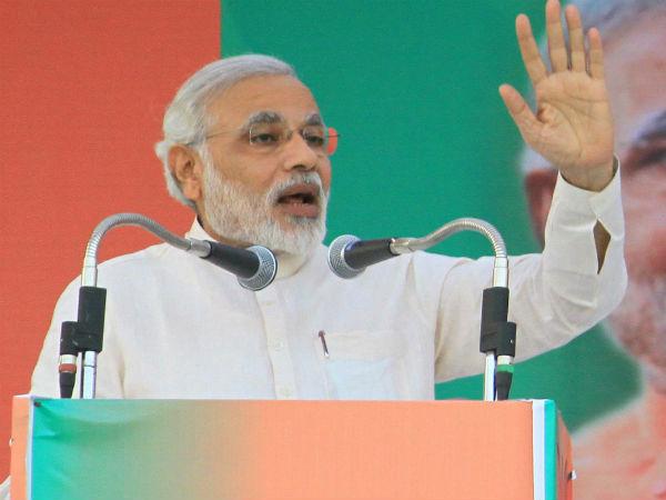 Modi Address Massive Gathering Erode Tamil Nadu Lse