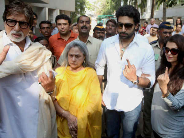 Bollywood Celebs Cast Their Votes Lse