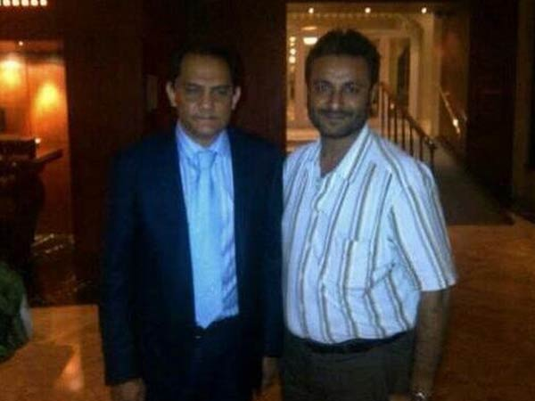 Bjp Releases Pix Hawala Accused Afroz Fatta With Md Azharuddin Lse