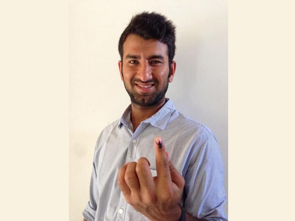 Cheteshwar Pujara Caste His Vote At Rajkot Lse