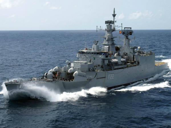 Minor Fire On Naval Warship Ins Ganga In Mumbai 3 Injured