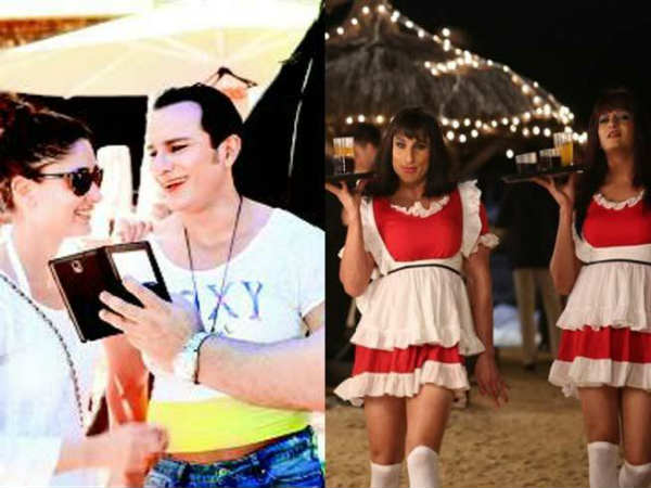 Saif Ali Khan S Ladylike Look Film Amuses Kareena Kapoor