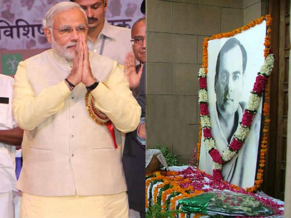 Modi Pays Homage To Rajiv Gandhi On Twitter