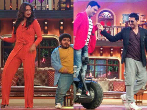 Comedy Nights With Kapil Akshay Sonakshi Promote Holiday Separately
