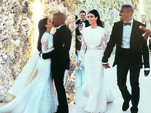 Kim Kardashian Kanye West Wedding Photos Released