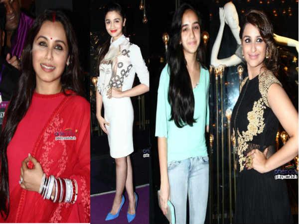 Rani Alia Parineeti Ira At Yrf Diva Ni Store Launch