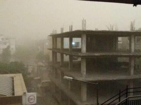 Pics Of Heavy Storm And Rain In New Delhi