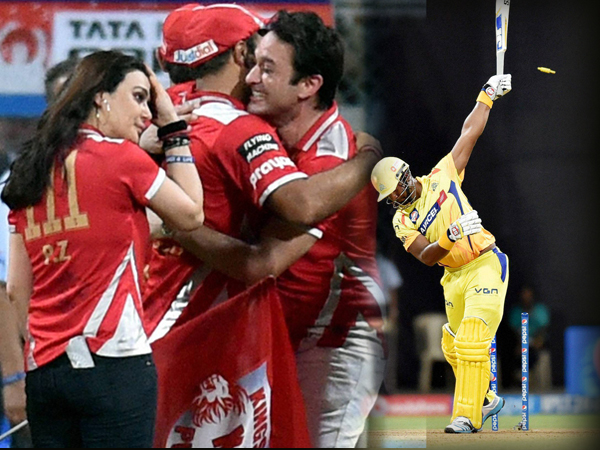 Kxip Defeats Chennai Enters Final After Seven Year