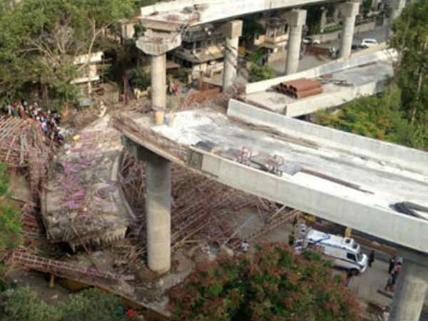 Under Construction Bridge Collapses In Surat Two Killed Five Feared Trapped