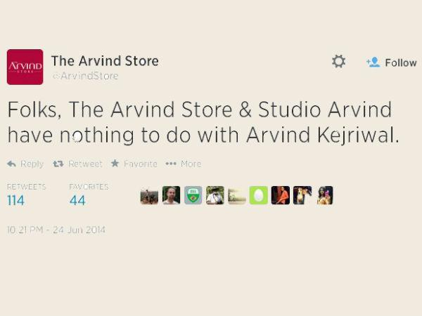 Gujarat Based Indian Apparel Giant Arvind Ltd Distances Itself From Kejriwal