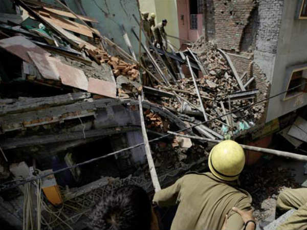 Three Storey Building Collapse In Indrelok New Delhi